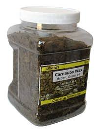 Carnauba Wax Flakes #4, Dark Brown