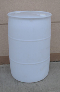 Plastic Drum, 55-Gallon, removable top