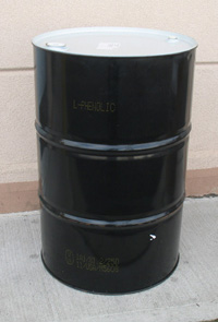 Steel Drum, 55-Gallon, Closed top