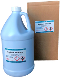 Sodium silicate, Solution