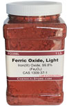 Ferric Oxide, Micronized Red Iron Oxide, pigment, light