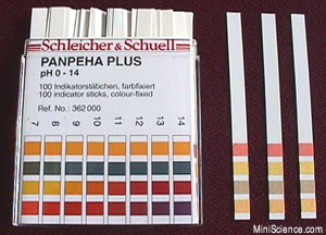 pH  Indicator Sticks, Range 0-14