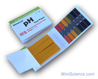 pH indicator paper book (pH: 1-14)