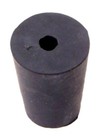 RUBBER STOPPER, 1 HOLE