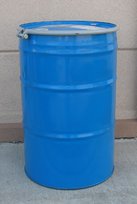 Steel Drum, 55 Gallon, Open Head