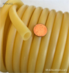 Rubber Tube, Amber, Natural Rubber, wide